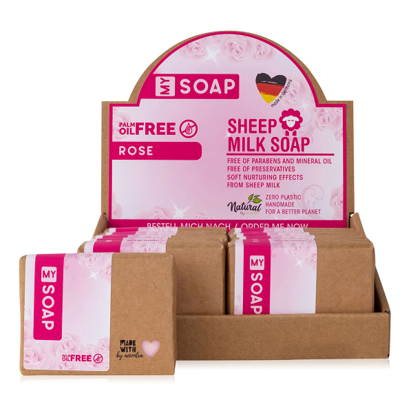 MY SOAP PALM OIL FREE Schafmilchseife Rose