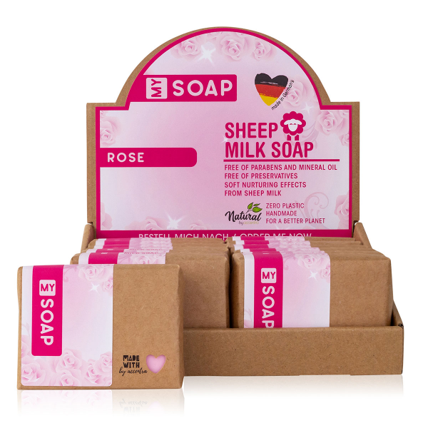 MY SOAP Schafmilchseife Rose