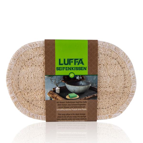 Seifenablage (Seifenkissen) aus Luffa