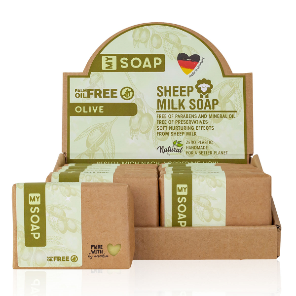 MY SOAP PALM OIL FREE Schafmilchseife Olive