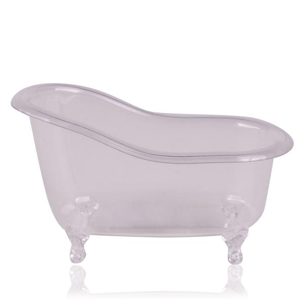 Mini-Badewanne transparent aus Kunststoff